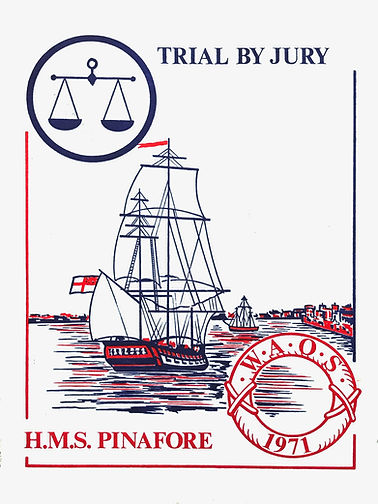 Programme cover for Trial by Jury & HMS Pinafore