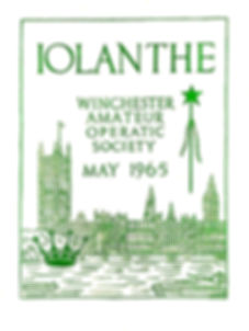 Programme cover for Iolanthe 1965