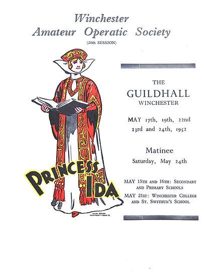 Programme cover for Princess Ida 1952