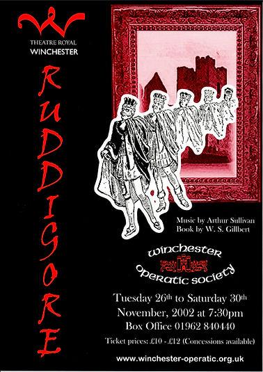 Poster for Ruddigore - Winchester Operatic Society - November 2002 - Theatre Royal Winchester