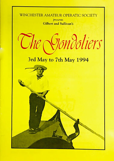 Programme cover for The Gondoliers 1994