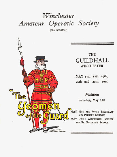 Programme cover for The Yeomen of the Guard 1955
