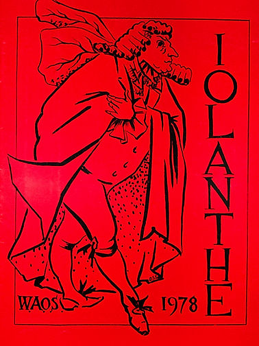 Programme cover for Iolanthe 1978