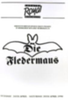 Programme cover for Die Fledermaus 1990