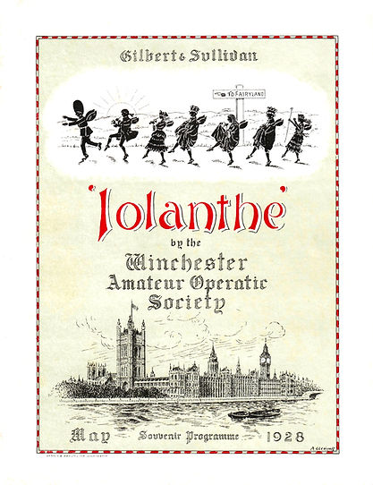 Programme cover for Iolanthe 1928