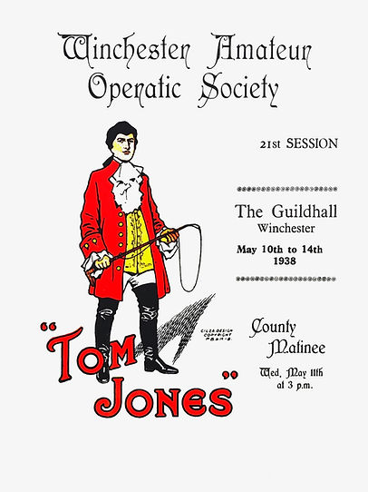 Programme cover for Tom Jones 1938