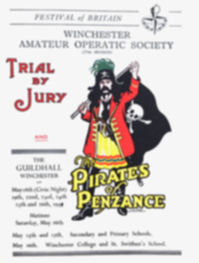 Programme cover for Trial by Jury and The Pirates of Penzance 1951