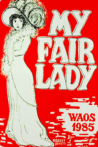 Programme cover for My Fair Lady - April 1985