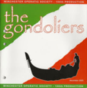 Programme of The Gondoliers - Winchester Musicals and Opera Society - November 2005