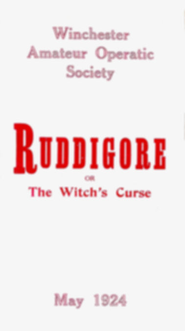 Programme cover for Ruddigore 1924