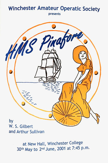 HMS Pinafore 2001 programme - Winchester Amateur Operatic Society - WAOS
