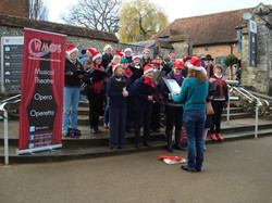 Carol Singing at the Ice Rink