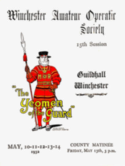 Programme cover for The Yeomen of the Guard 1932