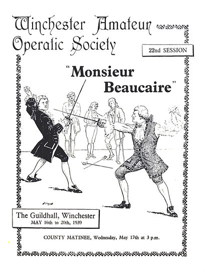 Programme cover for Monsieur Beaucaire 1939