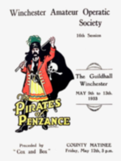 Programme cover for Pirates o  Penzance 1933