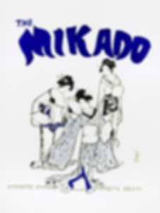 Programme cover for The Mikado - April 1984