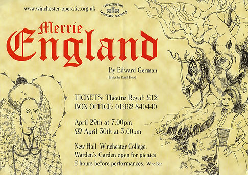 Poster for Merrie England - Winchester Musicals and Opera Society - April 2006