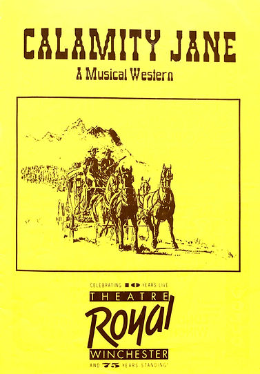 Programme cover for Calamity Jane 1989