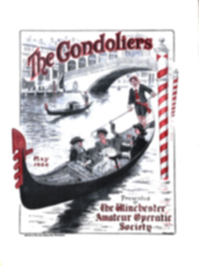 Programme cover for The Gondolier 1930