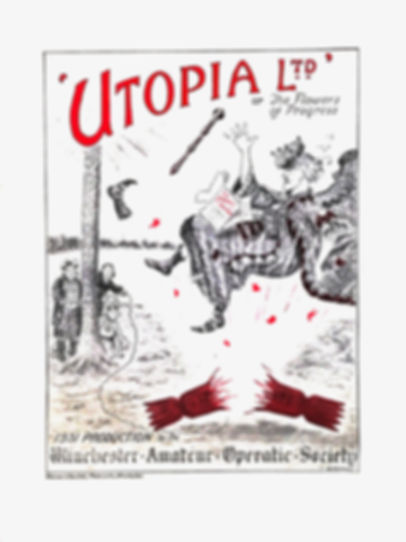 Programme cover for Utopia Limited 1933