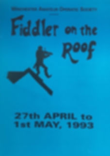 Programme cover for Fidder on the Roof