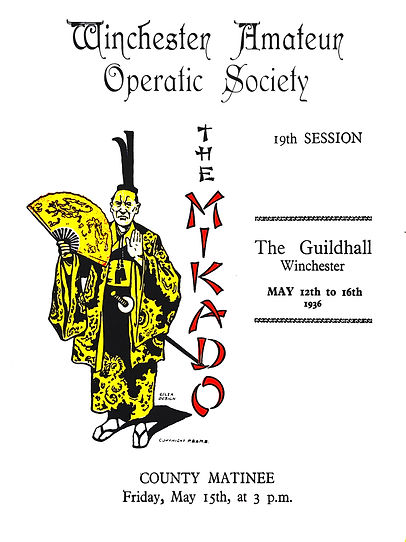 Programme cover for The Mikado 1936