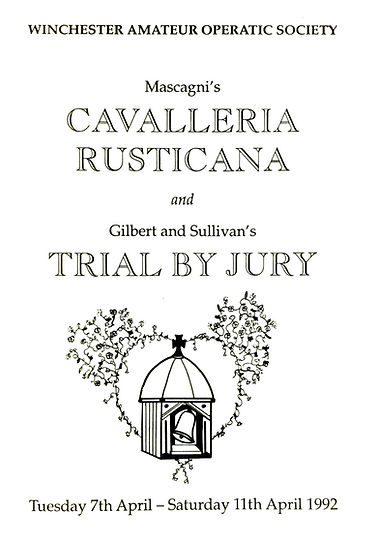 Programme cover for Cavalleria Rusticana & Trial by Jury