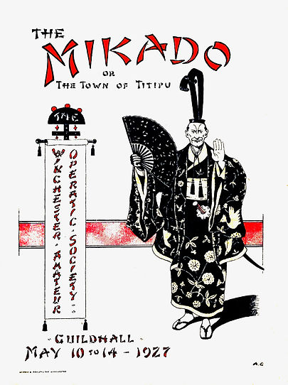 Programme cover for The Mikado 1927