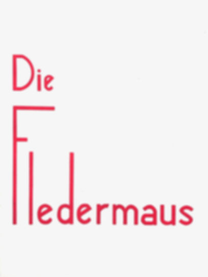 Programme cover for Die Fledermaus 1960