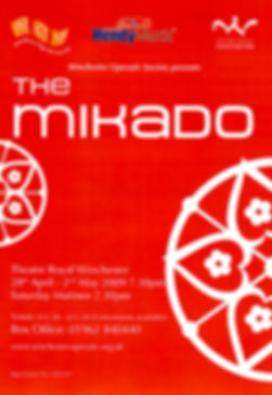 The Mikado by Gilbert and Sullivan performed by Winchester Operatic Society 2009
