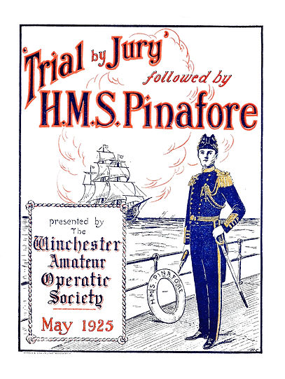 Programme cover for Trial by Jury/HMS Pinfore1925