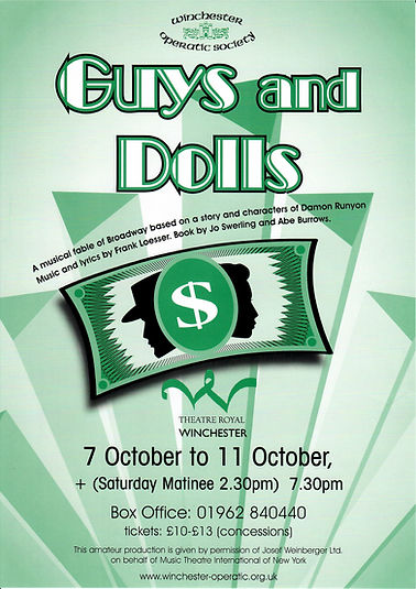 Poster of Guys and Dolls - Winchester Operatic Society - Theatre Royal Winchester 2003