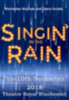 Singin' in the Rain Programme Cover - November 2018