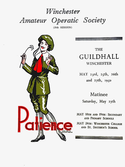 Programme cover for Patience 1950