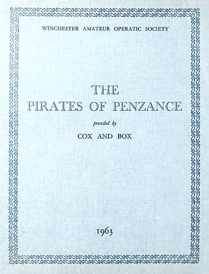 Programme cover for The Pirates of Penzance and Cox & Box 1963