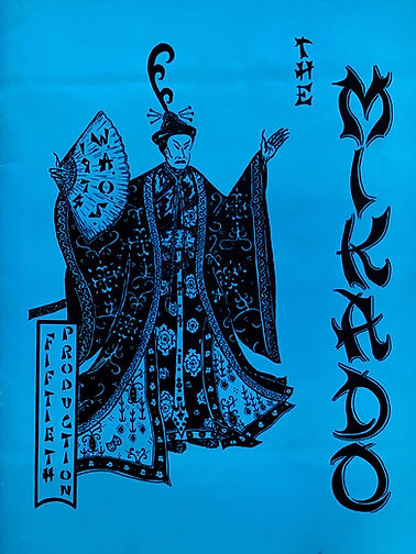 Programme cover for Mikado 1974