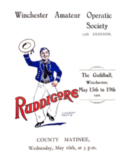 Programme cover for Ruddigore 1934