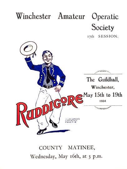 Programme cover for Ruddigore 1934