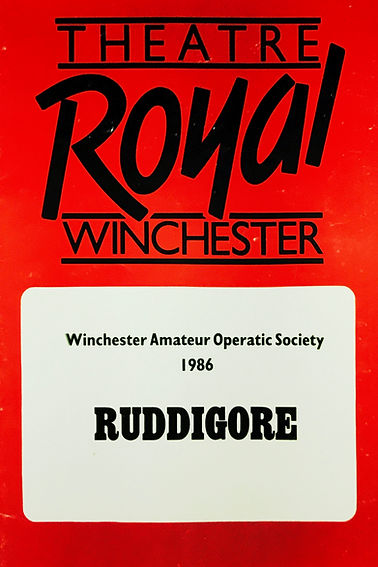 Programme cover for Ruddigore April 1986
