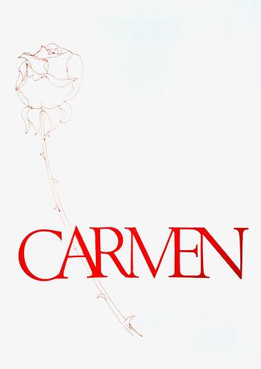 Programme cover for Carmen - April 1980