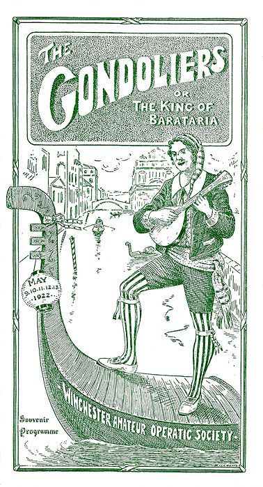 Programme cover for The Gondoliers 1922