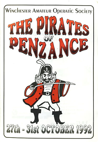 Programme cover for Pirates of Penzance 1992