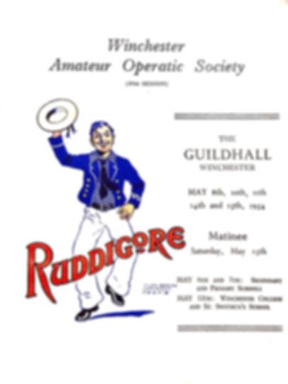 Programme cover for Ruddigore 1954