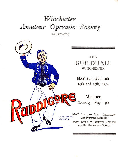 Programme cover for Ruddigore 1954