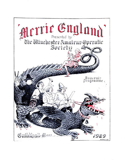 Programme cover for Merrie England 1929