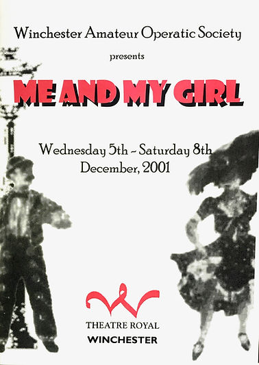 Programme for Me and My Girl December 2001 - Winchester Amateur Operatic Society - WAOS