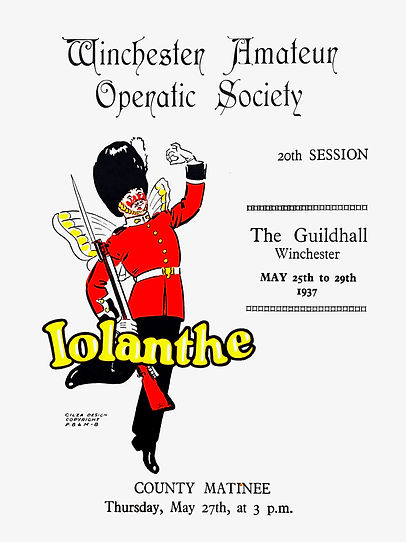 Programme cover for Iolanthe 1937