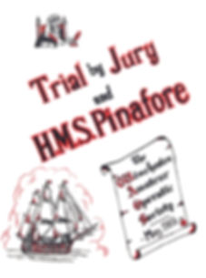Programme cover for Trial by Jury & HMS Pinafore1956