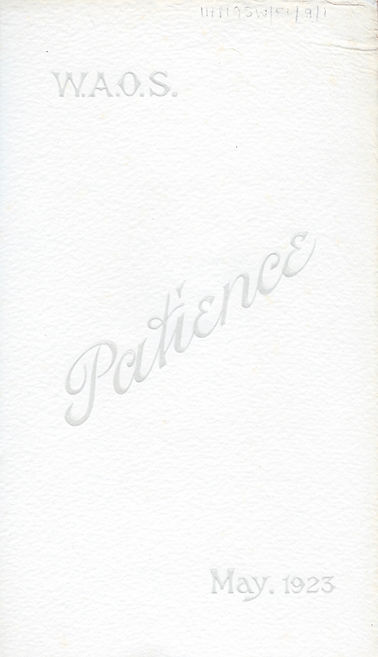 Programme cover for Patience 1923