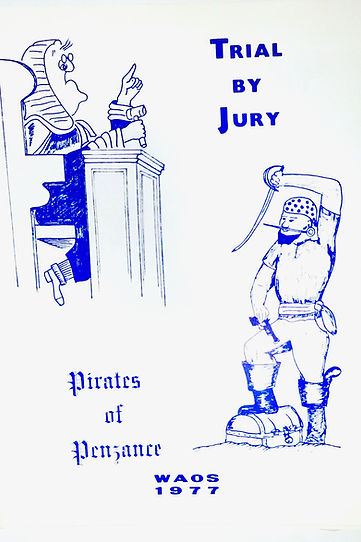 Programme cover for Trial by Jury & Pirates of Penzance 1977